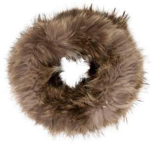 Yves Salomon Knitted Fur Snood