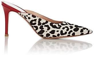 Gianvito Rossi Women's Leopard-Print Calf Hair Mules - White