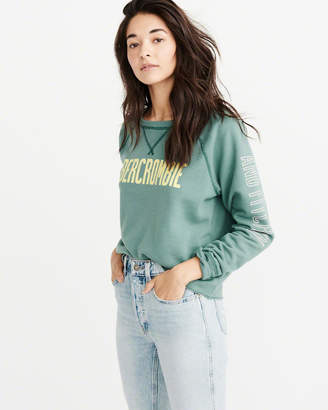 Abercrombie & Fitch Logo Crew Sweatshirt