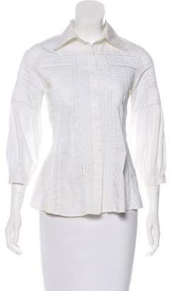 Robert Rodriguez Embroidered Long Sleeve Top