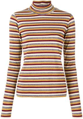 Antonio Marras stripe metallic turtleneck sweater