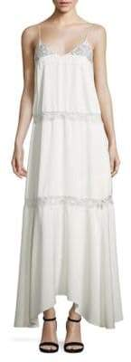 Theory Walela Crepe & Lace Maxi Dress