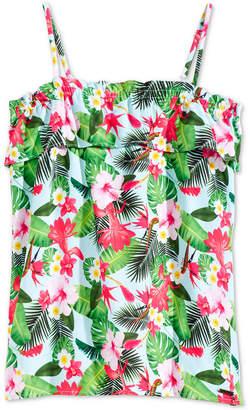 GUESS Tropical-Print Tank Top, Big Girls