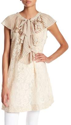 TOV Ruffle Front Lace Tunic