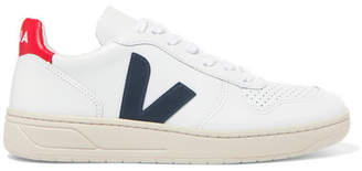 Veja V-10 Leather Sneakers - White
