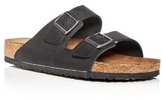 Birkenstock Men's Arizona Nubuck Leather Slip-On Sandals