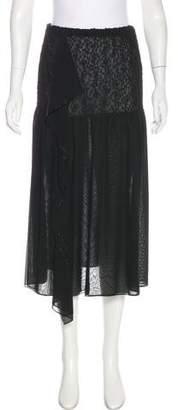 Issey Miyake Fete Ruffle-Accented Midi Skirt
