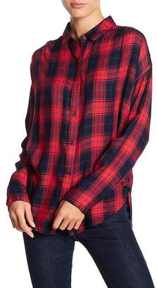 GOOD LUCK GEM Plaid Button Front Shirt