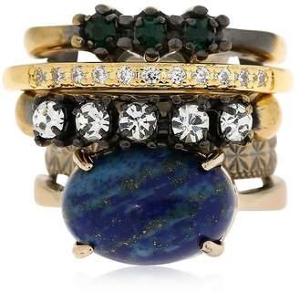 Iosselliani Set Of 5 Rings W/ Lapis Lazuli