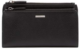 Ermenegildo Zegna Snap Fold Leather Wallet