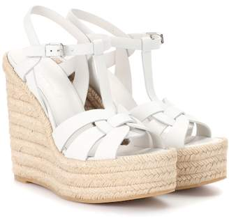 Saint Laurent Espadrille wedge leather sandals