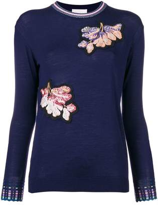 Peter Pilotto floral embroidered jumper