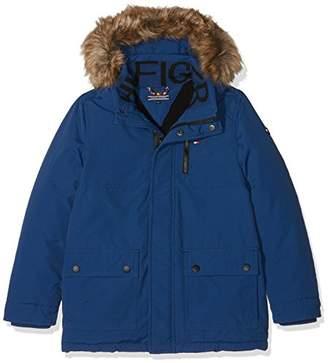 Tommy Hilfiger Boy's AME THKB JAE Parka Jacket, (Estate Blue 484), (Size: 10)