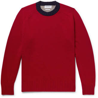 President's Colour-Block Wool Sweater