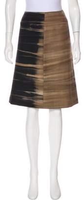 Prada Wool Knee-Length Skirt brown Wool Knee-Length Skirt
