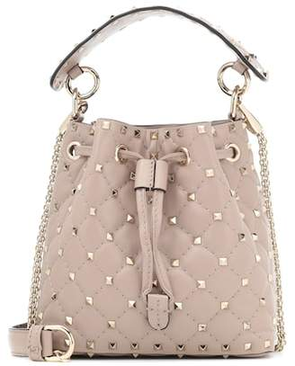 Valentino Candystud leather bucket bag
