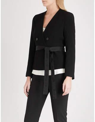 Claudie Pierlot Double-breasted crepe jacket