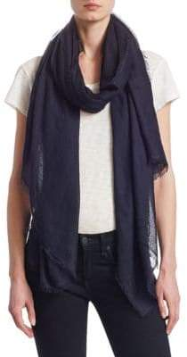 Saks Fifth Avenue Collection Fringed Cashmere& Silk Scarf