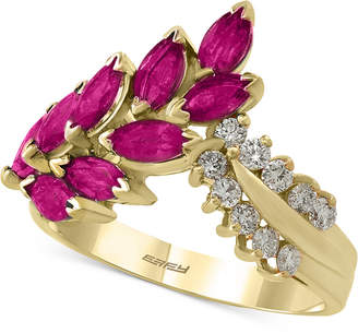 Effy Amore by Certified Ruby (2 ct. t.w.) and Diamond (1/4 ct. t.w.) Ring in 14k Gold