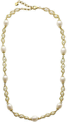 Brilliance+ FINE JEWELRY Cultured Freshwater Pearl 14K Gold Over Sterling Silver Brilliance Bead Necklace