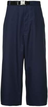 Facetasm wide leg cropped trousers
