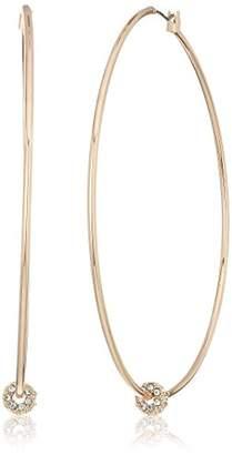 Kenneth Cole New York Womens Trinity Rings Crystal Charm Hoop Earrings