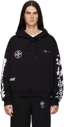 Off-White Off White SSENSE Exclusive Black Impressionism Diag Stencil Hoodie