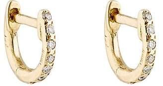 Ileana Makri Women's White-Diamond Huggie Hoops - Gold