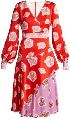 Peter Pilotto Floral-print silk dress