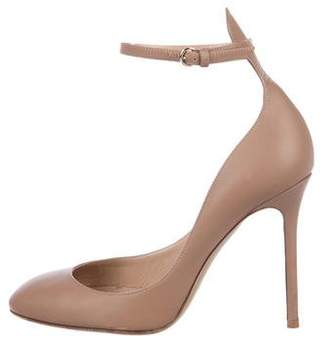 Valentino Leather Round-Toe Pumps