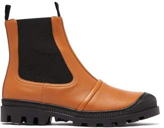 Loewe Tread Sole Leather Ankle Boots - Womens - Tan