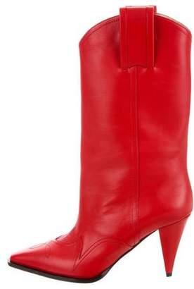 Nina Ricci Leather Pointed-Toe Boots w/ Tags