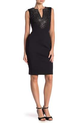 Modern American Designer Bling Scuba Dress