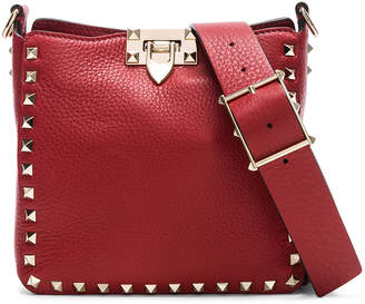 Valentino Mini Rockstud Hobo in Red | FWRD