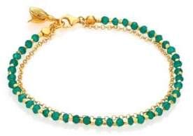 Astley Clarke Biography Green Agate Beaded Flower Charm Friendship Bracelet