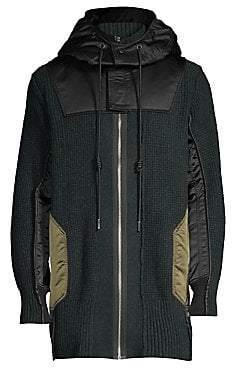 Diesel Men's Mixed-Media Hooded Jacket