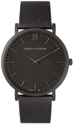 Larsson & Jennings Chain Metal Black Brass Watch
