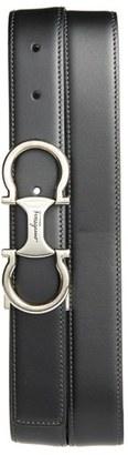 Men's Salvatore Ferragamo 'Metrone' Reversible Leather Belt $360 thestylecure.com
