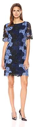 Tahari by Arthur S. Levine Women's All Over Lace 3/4 Sleeve Sheath Dress