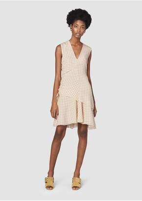 Derek Lam 10 Crosby Sleeveless V-Neck Ruched Dress
