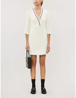 Claudie Pierlot Rufila contrast-tape knitted mini dress