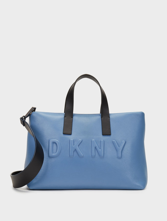 DKNY Debossed Logo Shoulder Bag