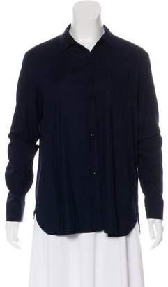 Raquel Allegra Long Sleeve Button-Up Top