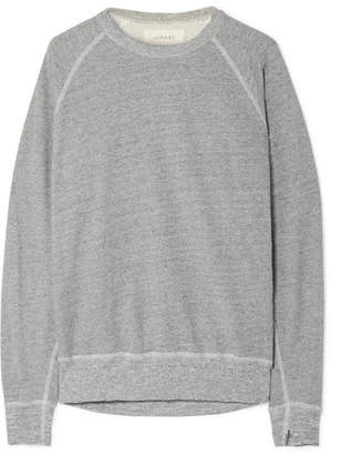 The Great The College Distressed Cotton-blend Jersey Sweatshirt - Gray