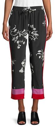 Joie Ceylon Floral-Print Silk Pants