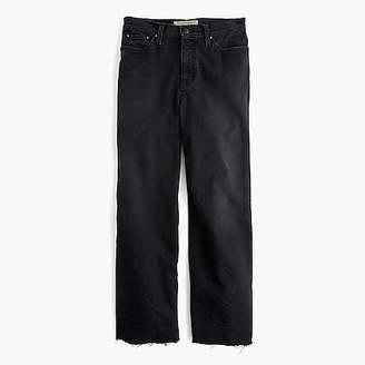 J.Crew Point Sur wide-leg crop jean in black