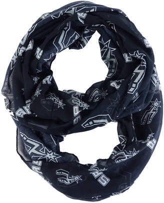 Forever Collectibles San Antonio Spurs All Over Logo Infinity Wrap Scarf