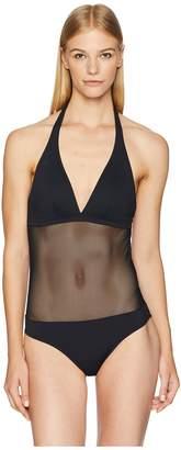 Vilebrequin Solid Net Fauve Swimsuit Women's Swimsuits One Piece