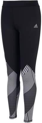 adidas Girls 7-16 Printed Hem Full Length Leggings