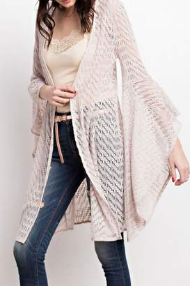 Easel Bell Sleeve Cardigan